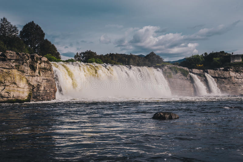 Maruia fall in New Zealand royalty free stock images