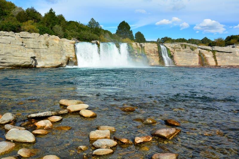 Maruia Falls in New Zealand. stock image