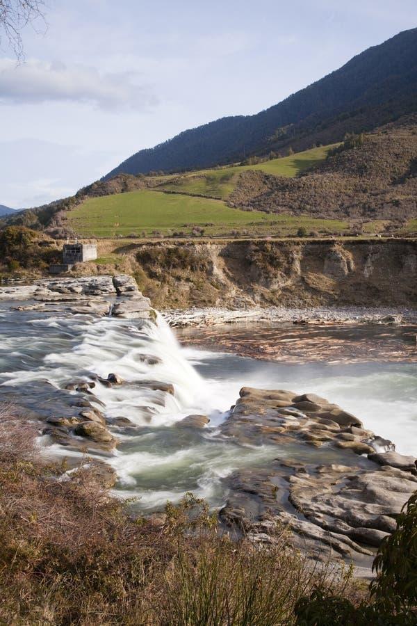 Maruia Falls Tasman New Zealand royalty free stock photography