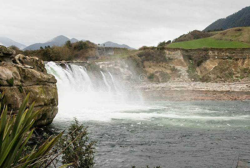 Maruia Falls, New Zealand stock photography