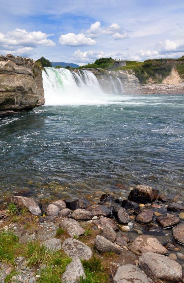 Maruia Falls, West Coast, New Zealand royalty free stock images