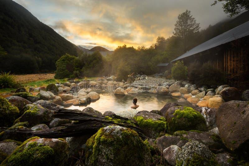 Maruia Hot Springs arkivbild