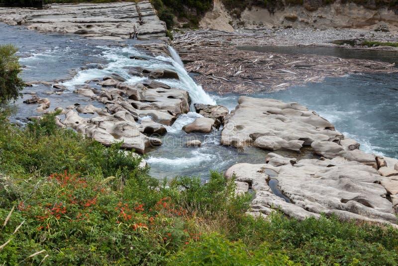 Maruia waterfall stock image