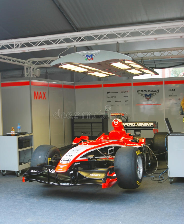 Marussia F1队跑车  免版税库存图片