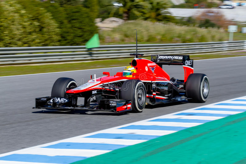 Marussia F1小组, Luiz Razia 2013年 库存图片