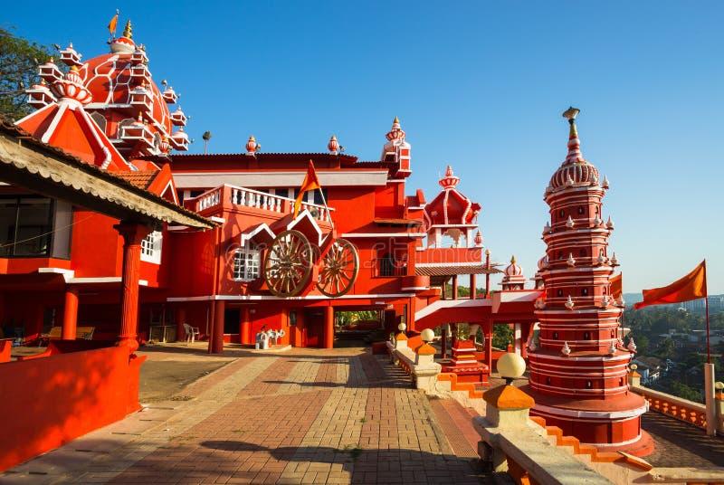 Maruti tempel Hanuman Temple i Panjim arkivfoton