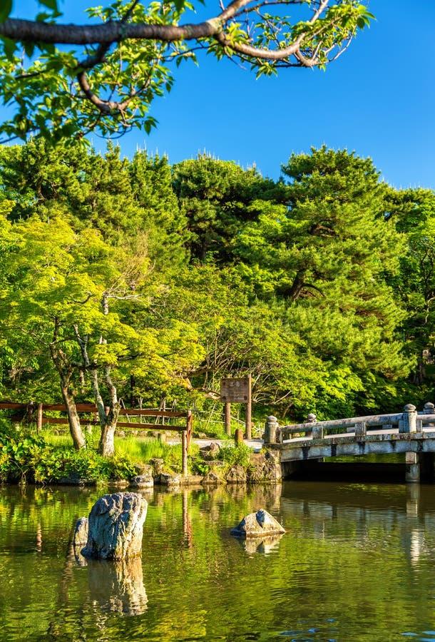 Maruyama Park in Kyoto, Japan stock photos