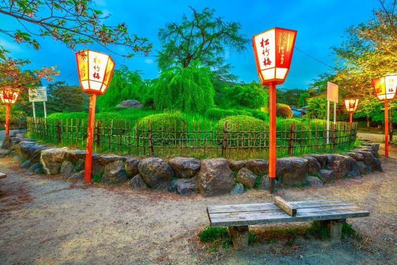 Maruyama parkerar Kyoto arkivfoto