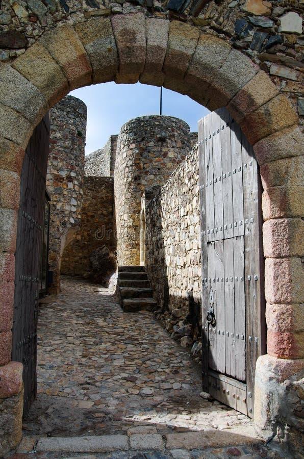 Marvao castle entrance gate stock image
