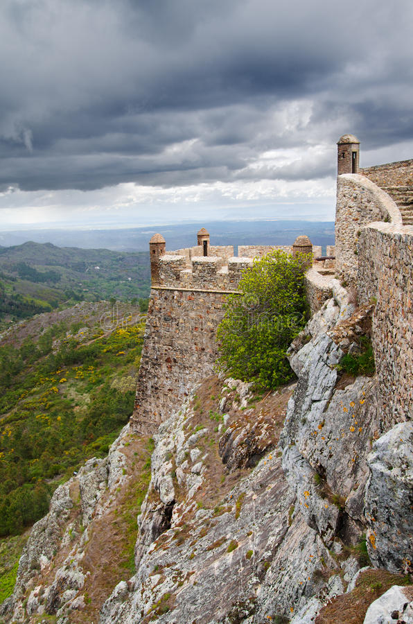 Marvao west walls royalty free stock photos