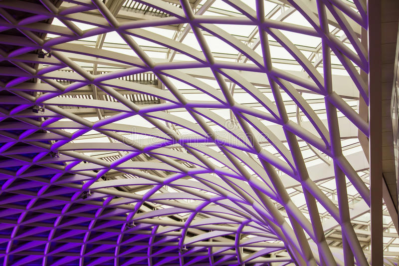 The marvellous Kings Cross ceiling architecture stock photos