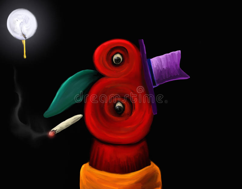 Download Marvin - Digital Painting stock illustration. Image of abstract - 23136131