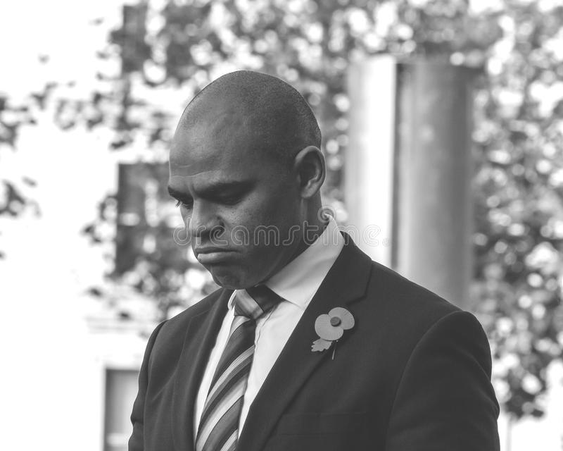 Marvin Rees Bristol Mayor sur le souvenir dimanche C photo stock