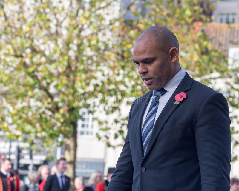 Marvin Rees Bristol Mayor sur le souvenir dimanche G photo stock