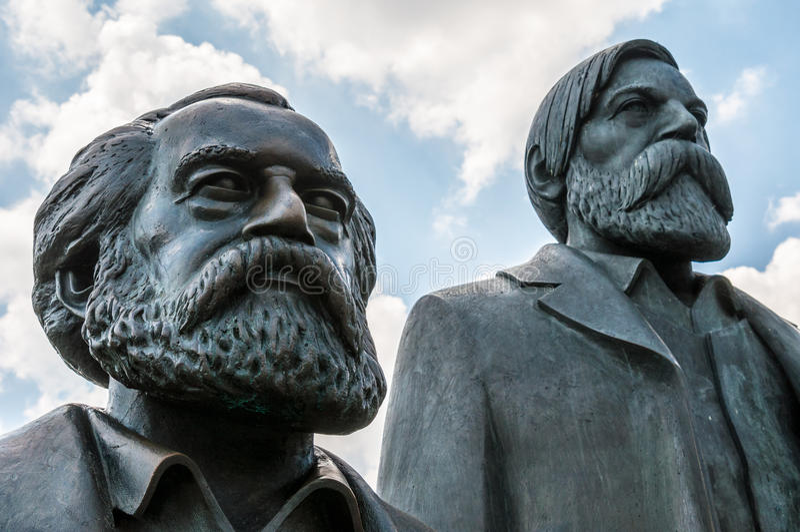 Marx en Engels royalty-vrije stock afbeelding