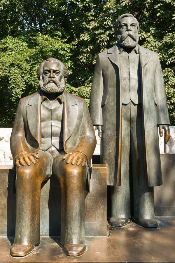 Marx-Engels-Forum lizenzfreies stockbild