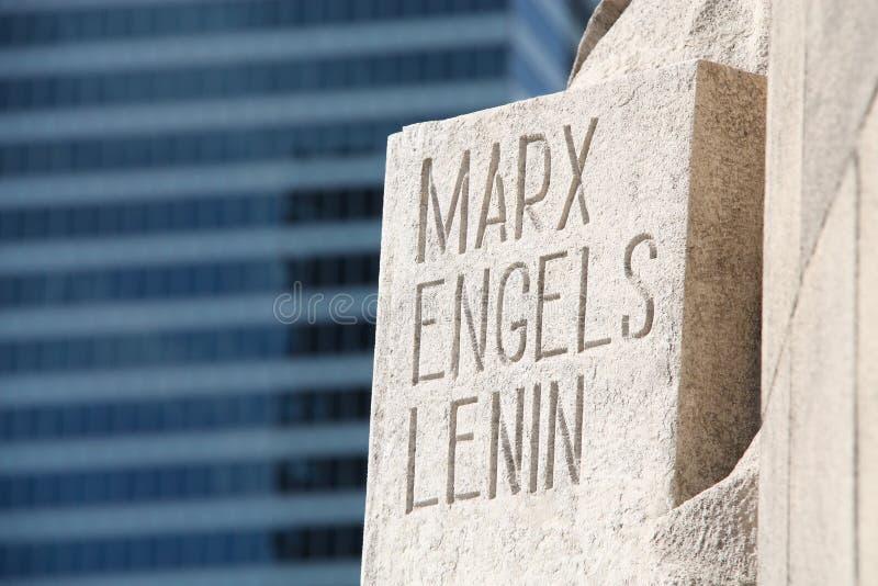 Marx Engels Lenin imágenes de archivo libres de regalías