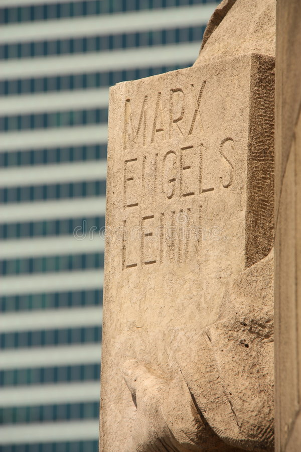 Marx Engels Lenin stock images