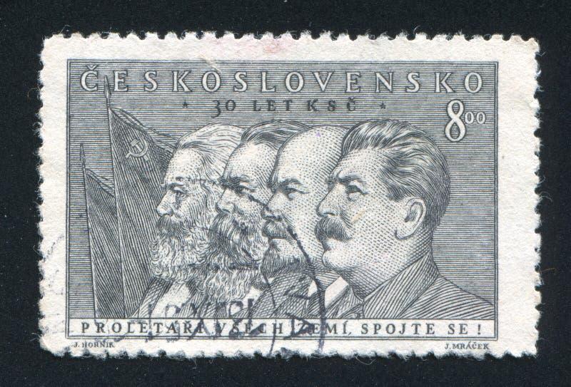 Marx Engels Lenin und Stalin lizenzfreie stockbilder
