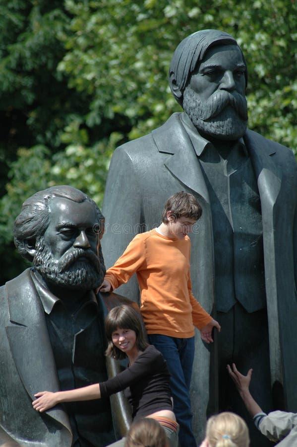 Marx Engels Memorial fotografering för bildbyråer