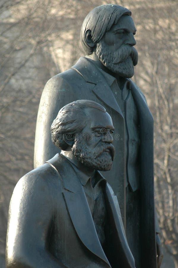 Marx Engels Memorial Berlin royaltyfri foto