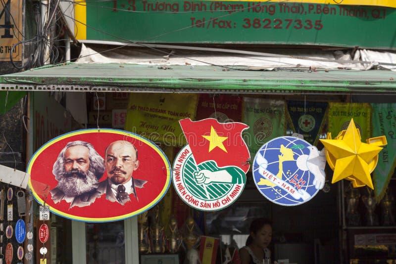 Marx et Lénine photo stock