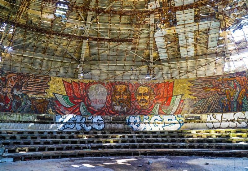 Marx och Engels mosaik arkivbild