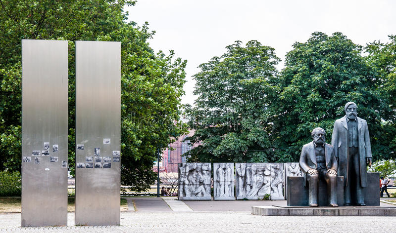 Marx und Engels stockfoto