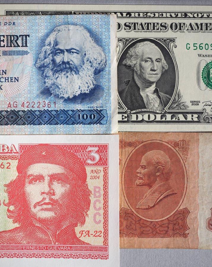 Marx, Waszyngton, Che Guevara i Lenin, zdjęcie stock