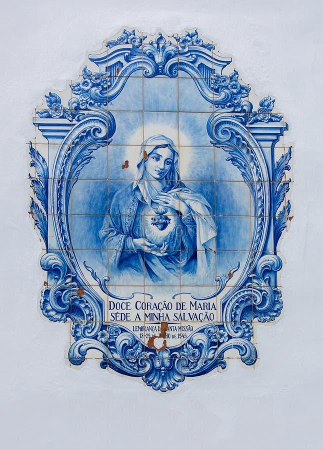 Mary στα κεραμίδια στοκ εικόνες με δικαίωμα ελεύθερης χρήσης