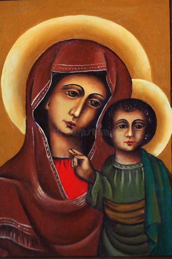 Mary с ребенком Иисусом стоковое фото rf