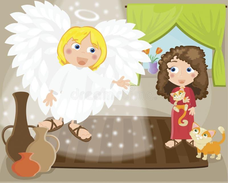 Mary ilustração do vetor