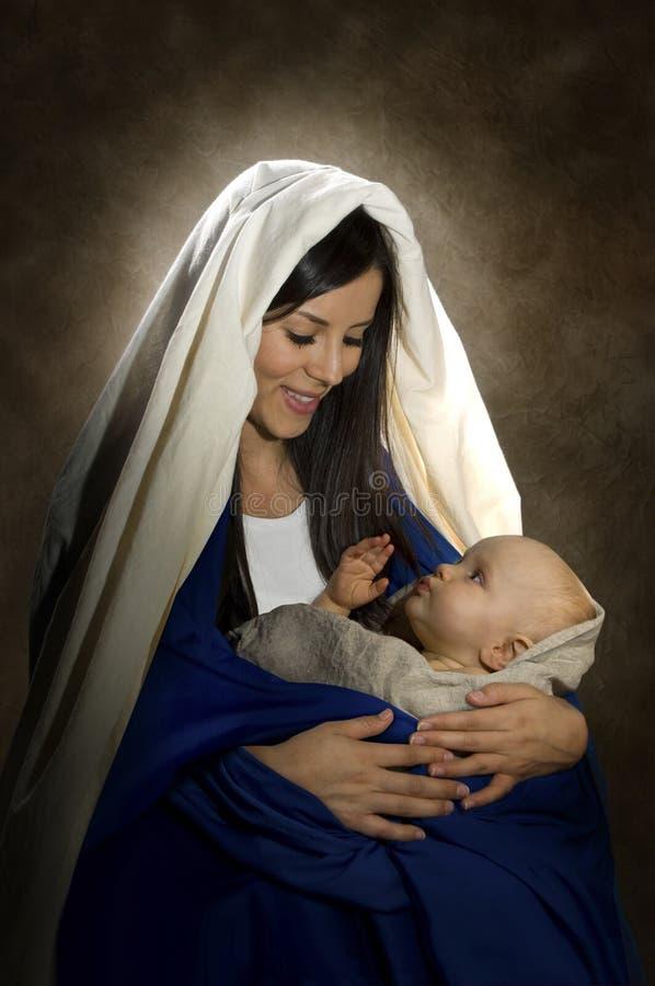 Mary & Jesus royalty-vrije stock fotografie