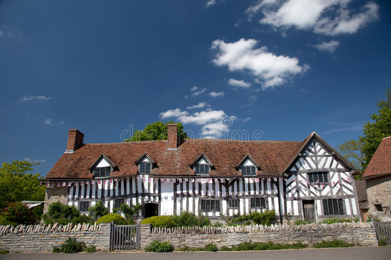 Mary Arden's Farm and house stock images