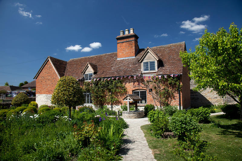 Mary Arden's Farm and house. Where William Shakespeare's mother grew up England UK royalty free stock image
