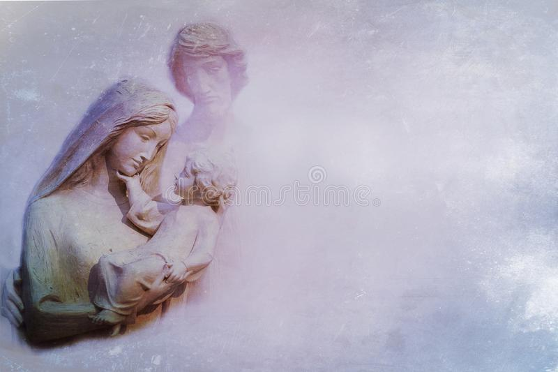 Mary and baby Jesus stock image