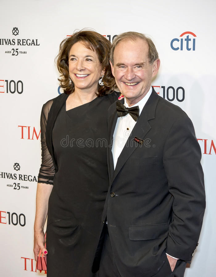 Mary Boies and David Boies stock photos