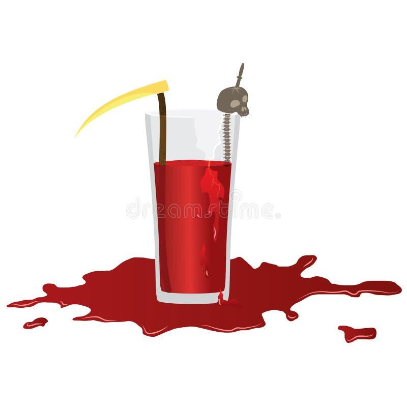 Mary Cocktail Helloween sangrienta stock de ilustración