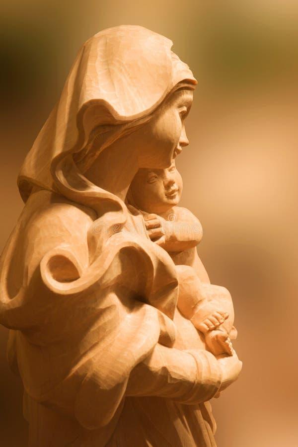 Mary con il christ-bambino fotografia stock