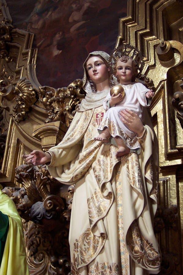 Mary Dziecka Dziewicy Zdjęcie Royalty Free