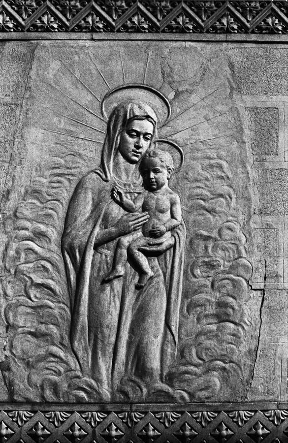 Mary e Jesus foto de stock