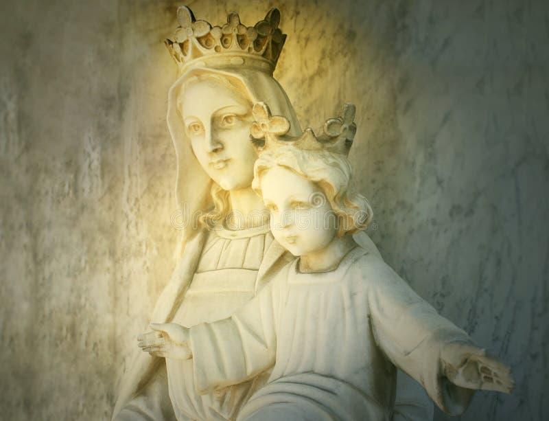 Mary e Jesus fotos de stock royalty free