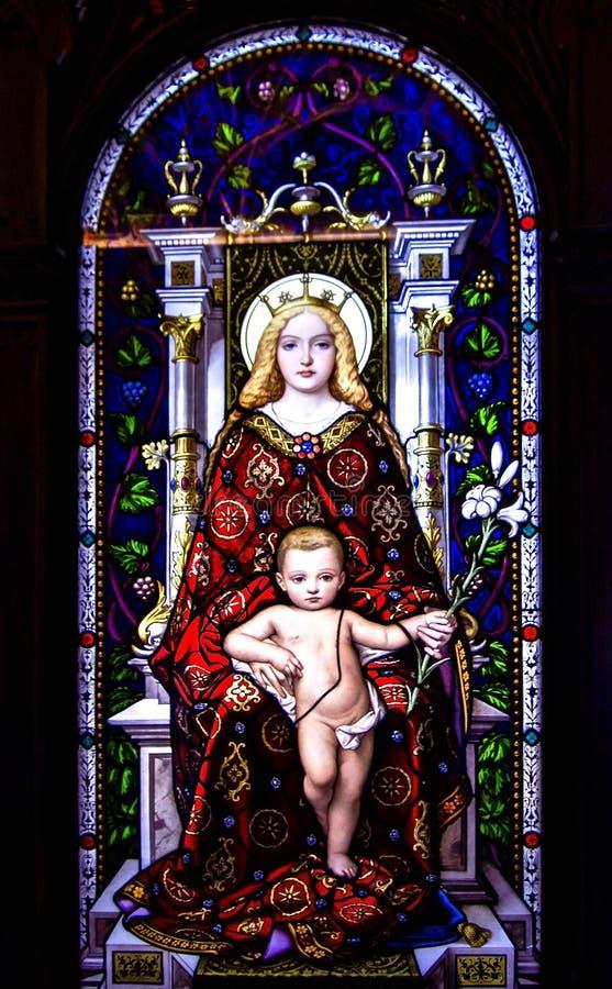 Mary en Jesus stock foto's
