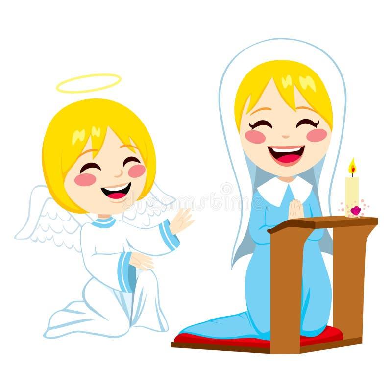 Mary Happy Praying vektor abbildung