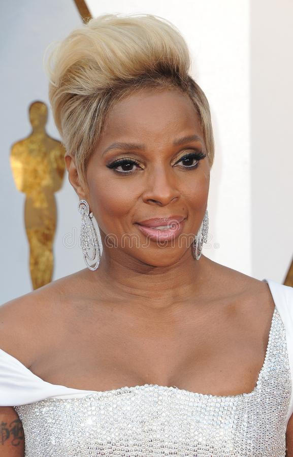 Mary J Blige fotografia stock