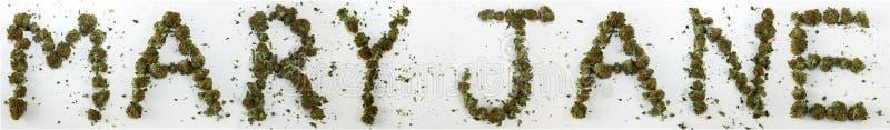 Mary Jane Spelled With Marijuana stock afbeeldingen
