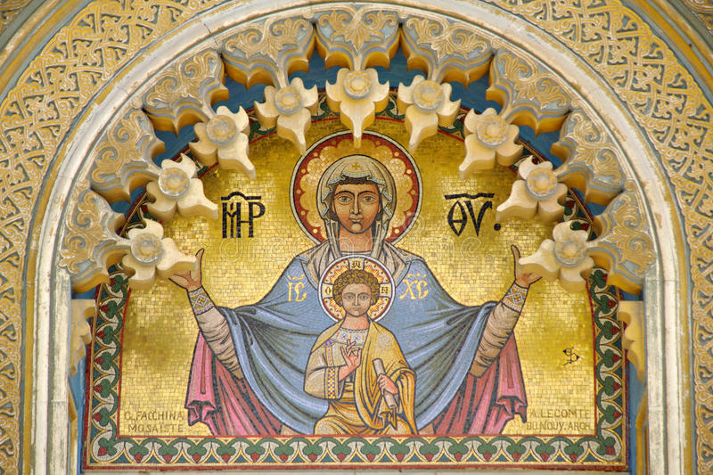 Download Mary and Jesus stock image. Image of lord, people, orthodox - 27785843