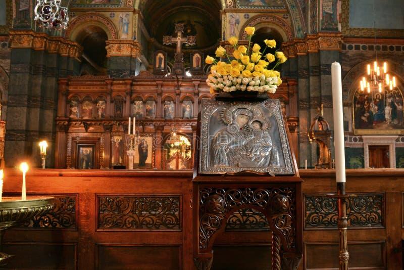 Mary Jesus Icon Saint Sophia Cathedral stockfotos