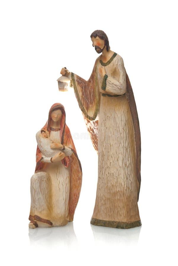 Mary, Jesus und Joseph lizenzfreie stockfotos