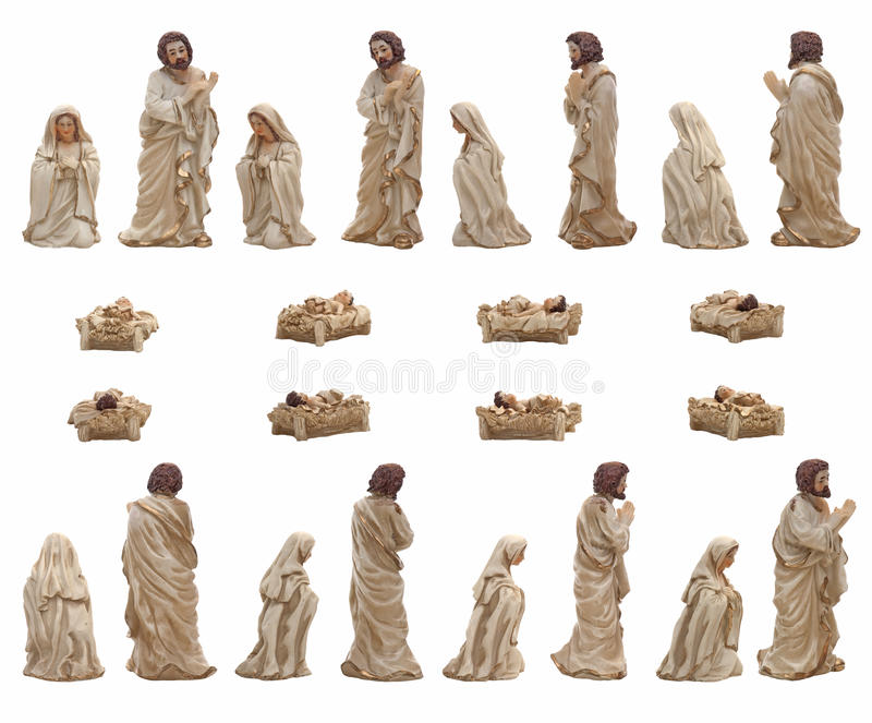 Mary, Jesus und Joseph lizenzfreie stockbilder